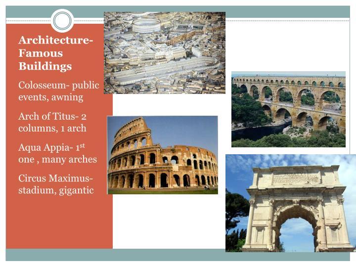 Architecture- Famous Buildings
