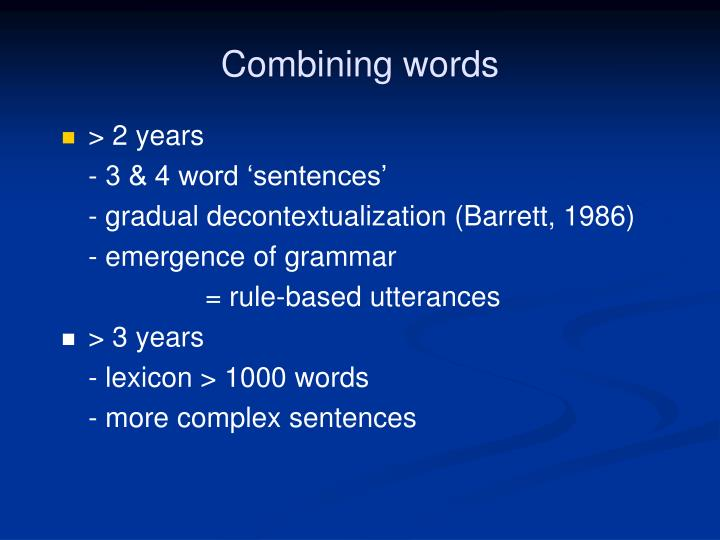 Combining words