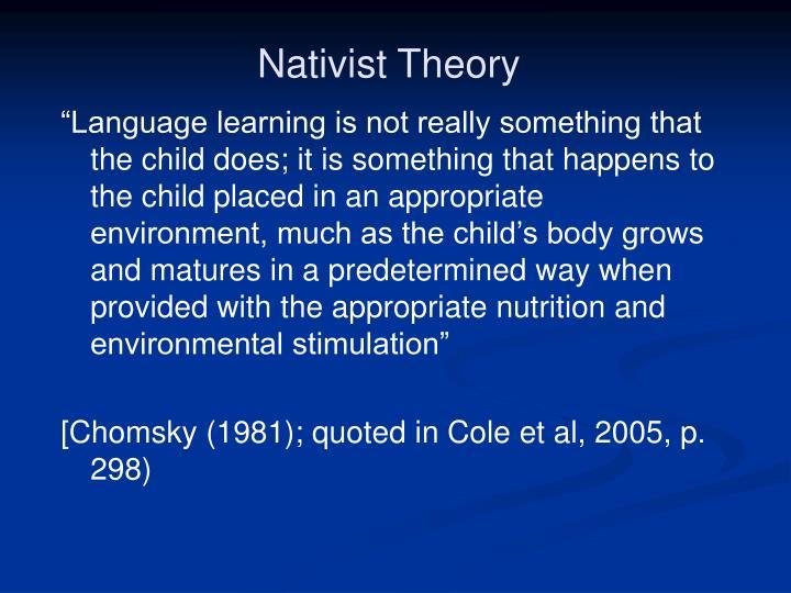 Nativist Theory
