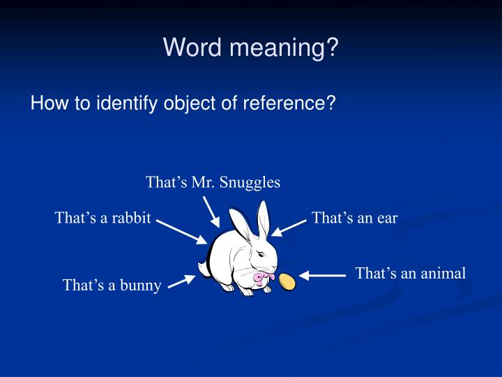Word meaning?