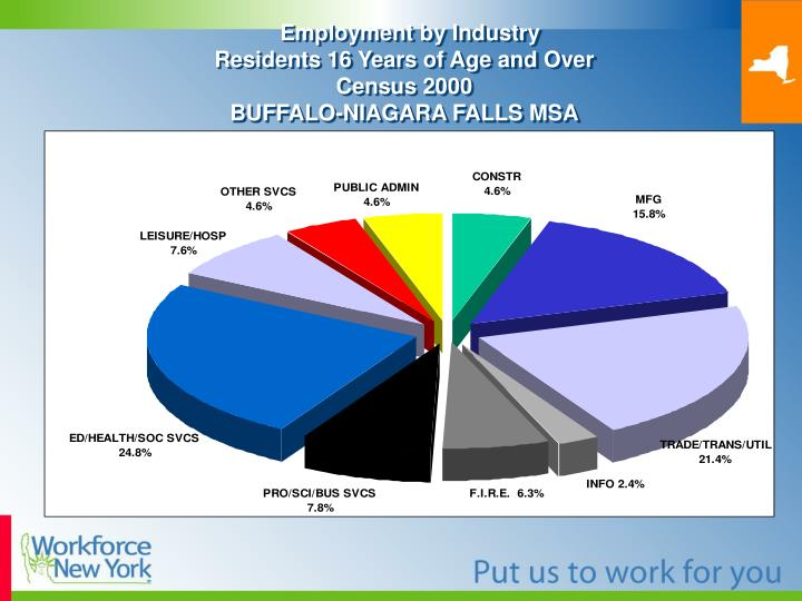 Employment by industry residents 16 years of age and over census 2000 buffalo niagara falls msa