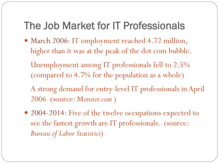 The Job Market for IT Professionals