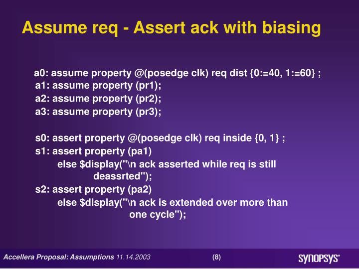 Assume req - Assert ack with biasing