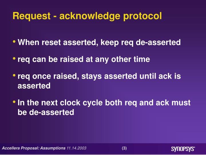Request - acknowledge protocol