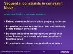 sequential constraints in constraint block