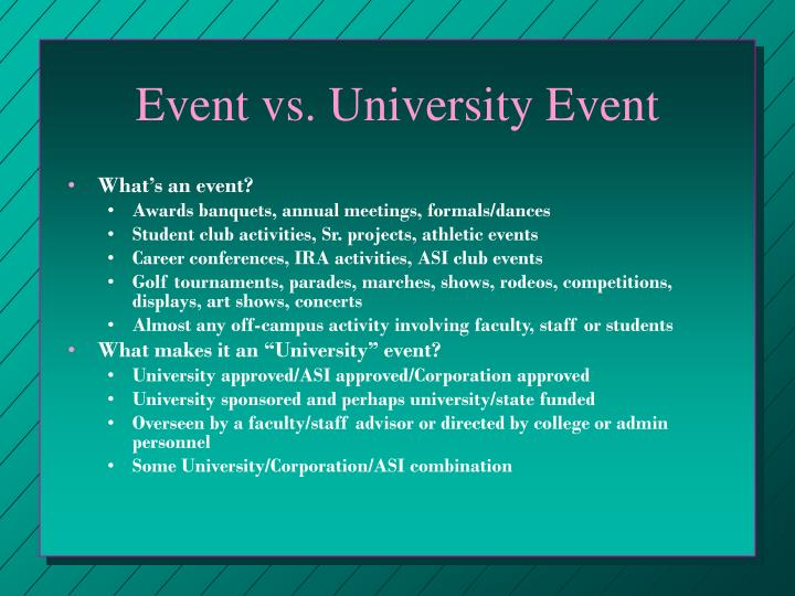 Event vs. University Event
