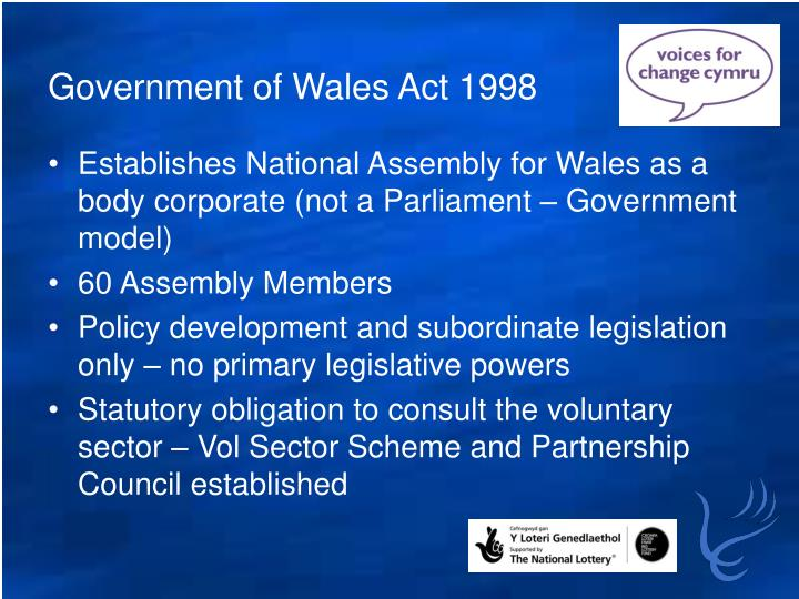 Government of Wales Act 1998