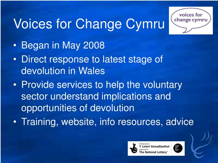 Voices for change cymru