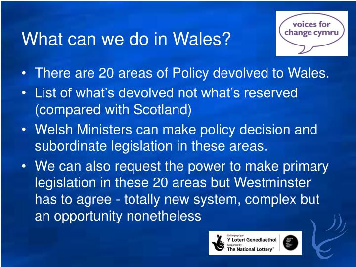 What can we do in Wales?