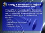 energy environmental program environmental management system