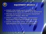 equipment branch