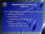 ongoing region projects zone 27
