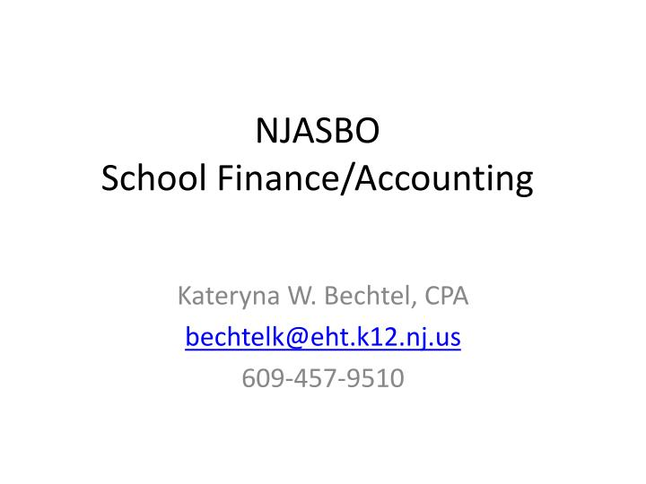 njasbo school finance accounting