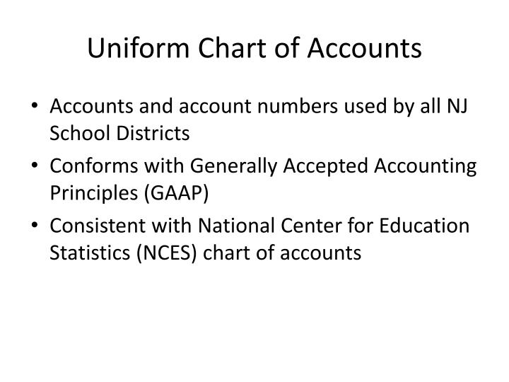 Uniform Chart of Accounts