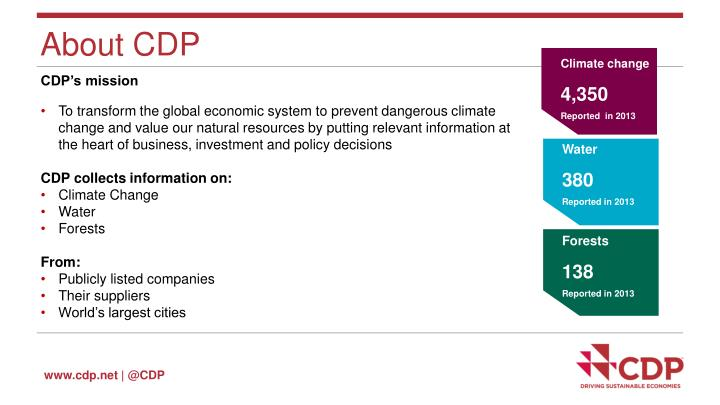 About CDP