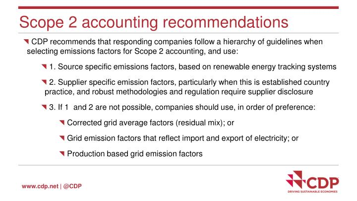 Scope 2 accounting recommendations