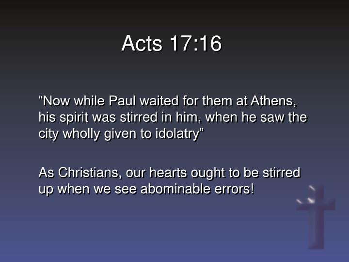 Acts 17:16