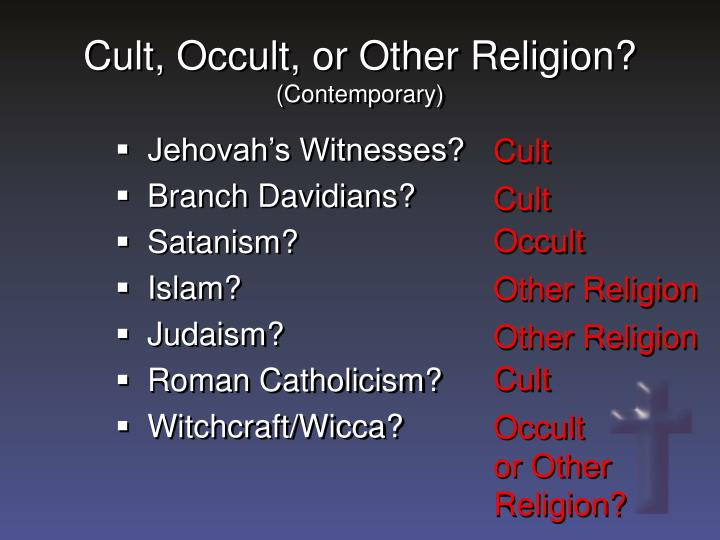 Cult, Occult, or Other Religion?