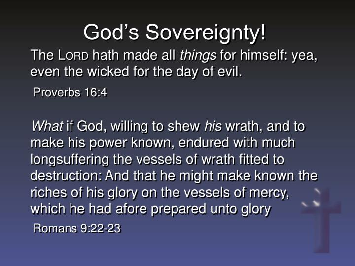 God's Sovereignty!