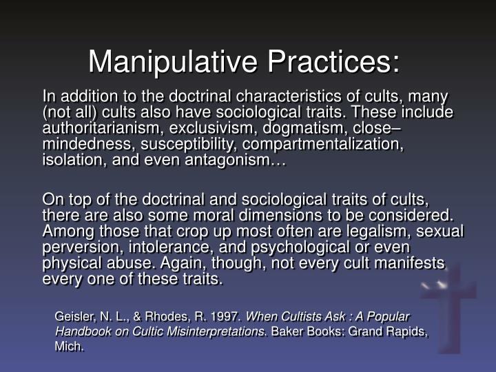 Manipulative Practices: