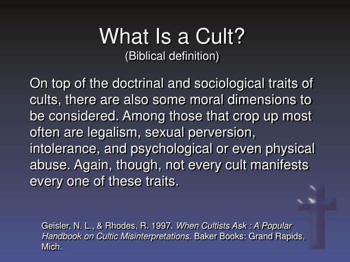 What Is a Cult?