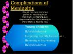 complications of meningitis