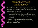 demography and epidemiology