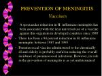 prevention of meningitis vaccines