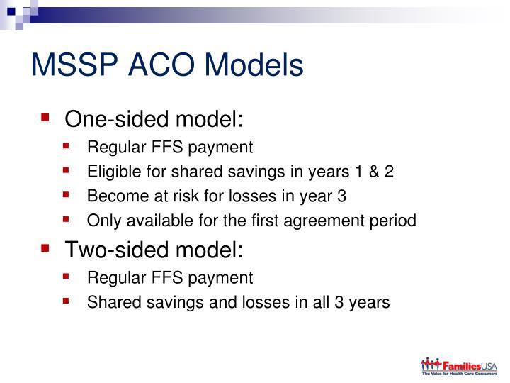 MSSP ACO Models