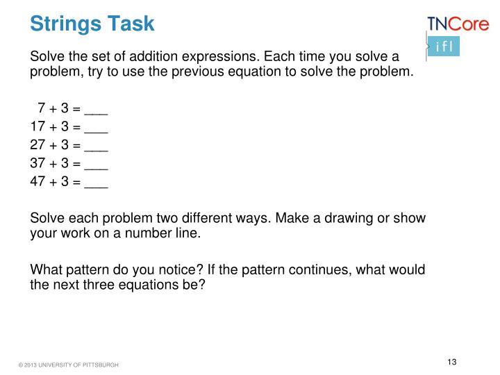 Strings Task
