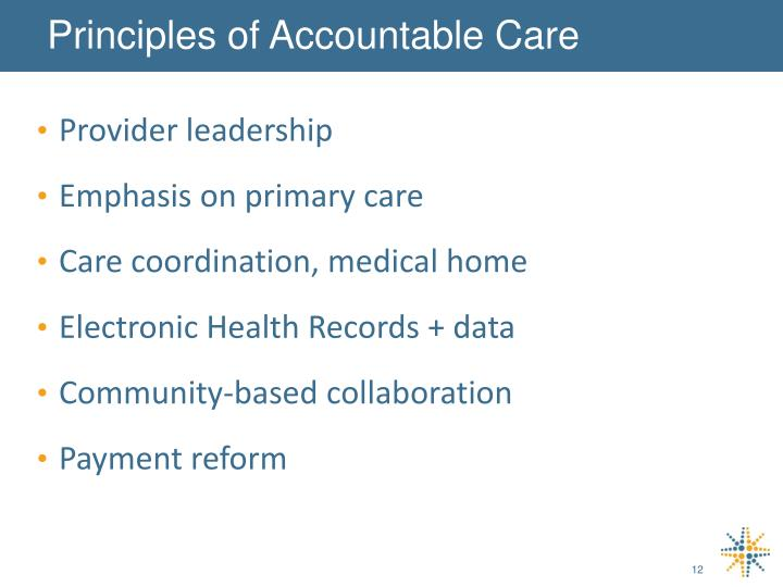 Principles of Accountable Care