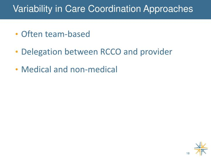 Variability in Care Coordination Approaches