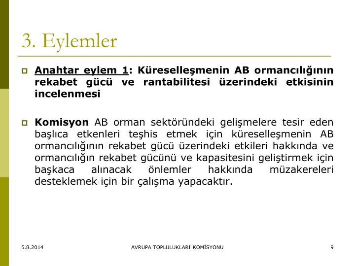 3. Eylemler