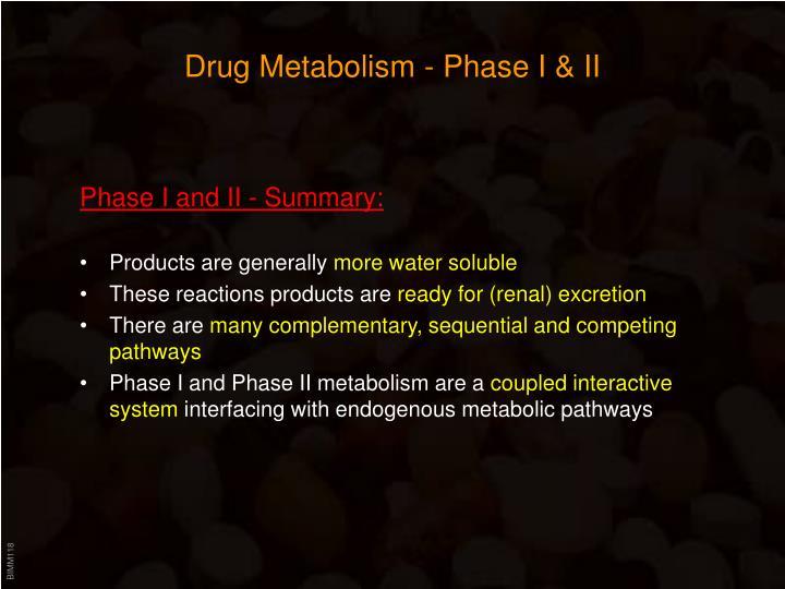 Drug Metabolism - Phase I & II