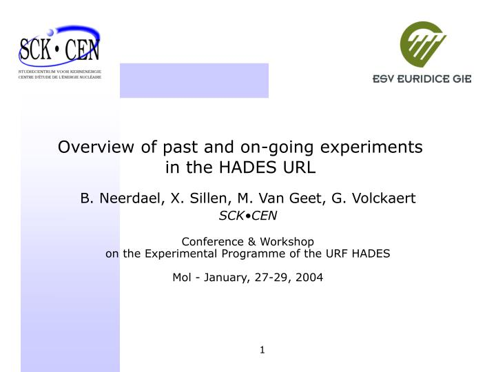 overview of past and on going experiments in the hades url