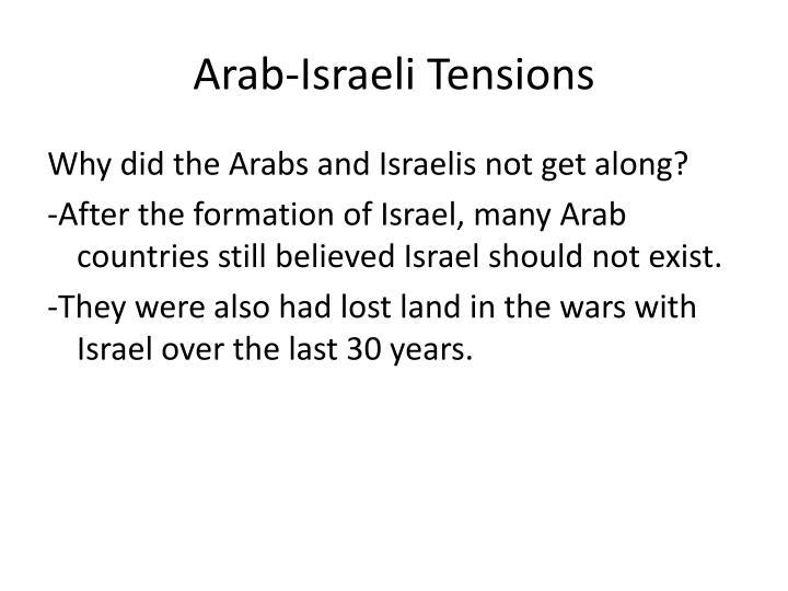 Arab-Israeli Tensions