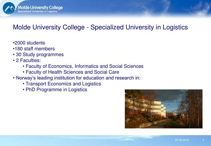 Molde university college specialized university in logistics