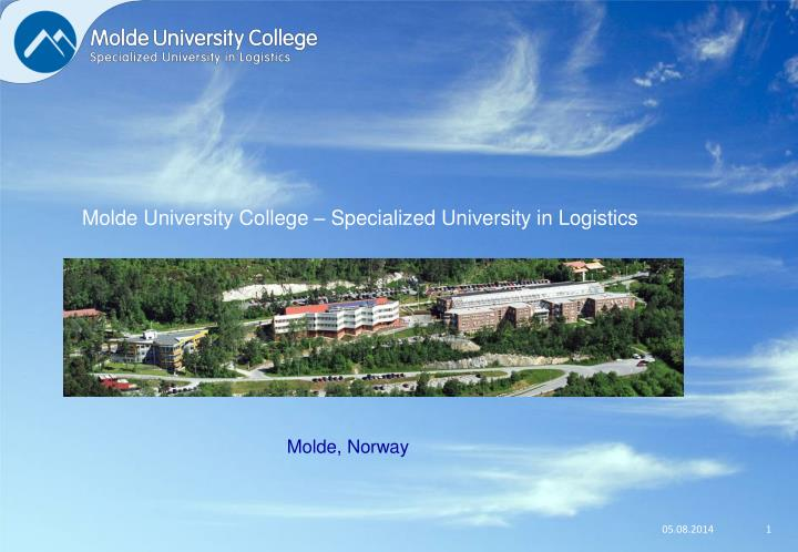 Molde University College – Specialized University in Logistics