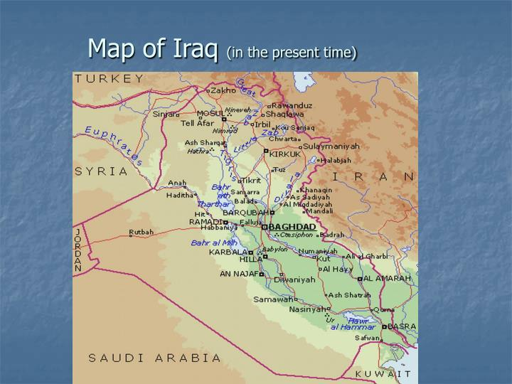 Map of iraq in the present time