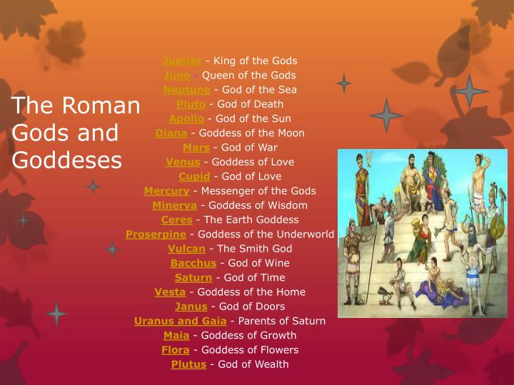 The Roman Gods and