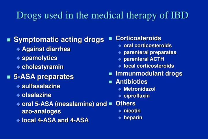 Symptomatic acting drogs