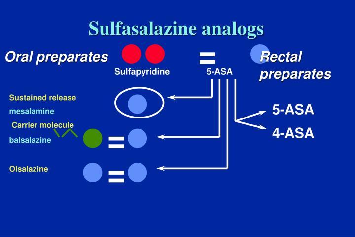 Sulfasalazine analogs