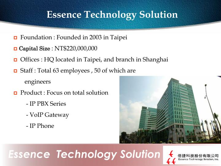 Essence Technology Solution