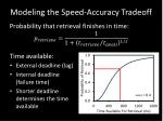 modeling the speed accuracy tradeoff1