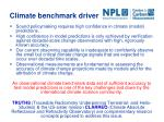 climate benchmark driver