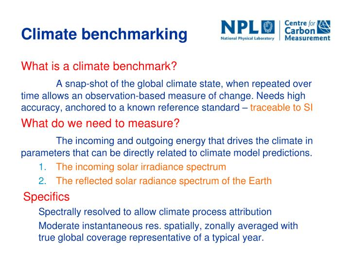 Climate benchmarking