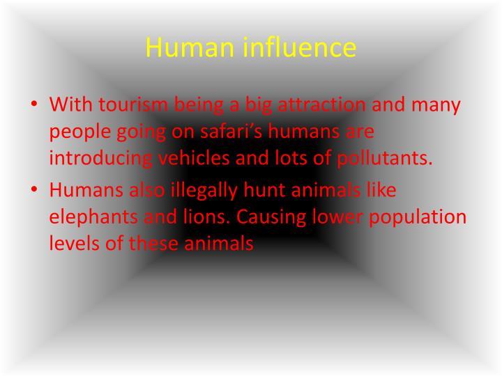 Human influence