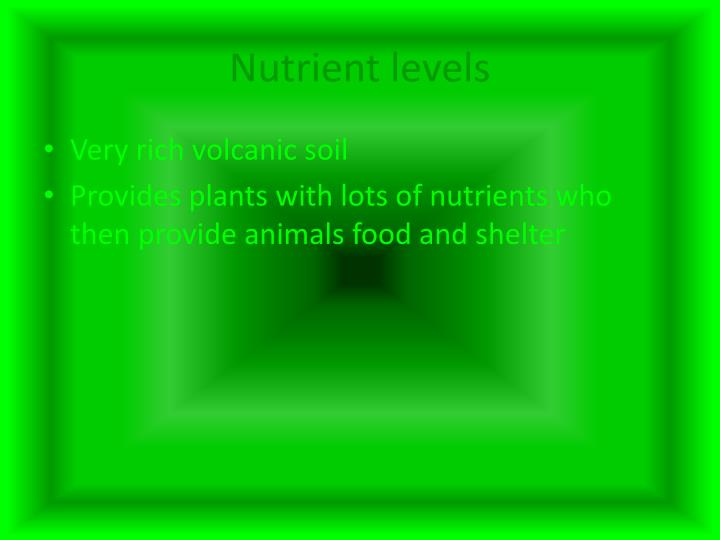 Nutrient levels