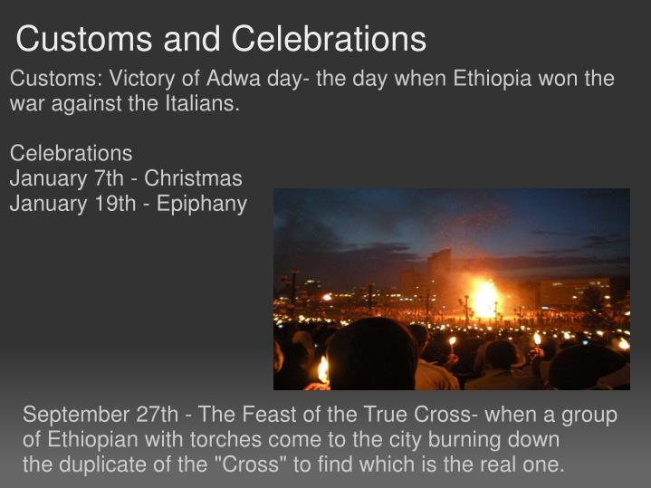Customs and Celebrations