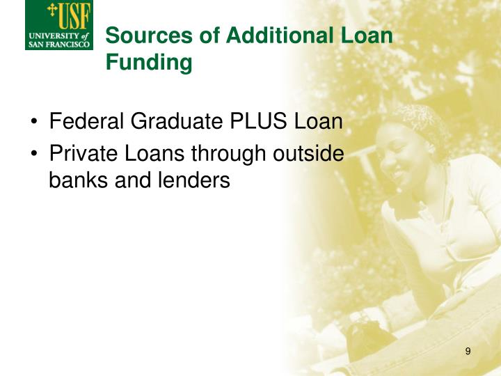 Sources of Additional Loan Funding